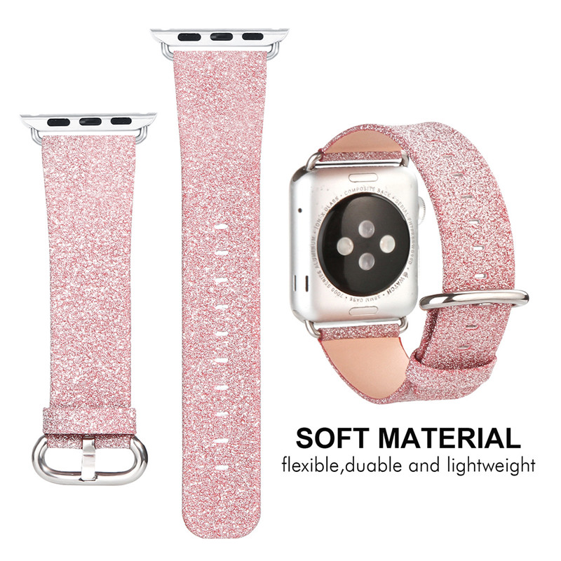 Suitable for Apple Watch Strap  for Apple WATCH38/42mm Watch with For Iwatch Plain Flash Strap