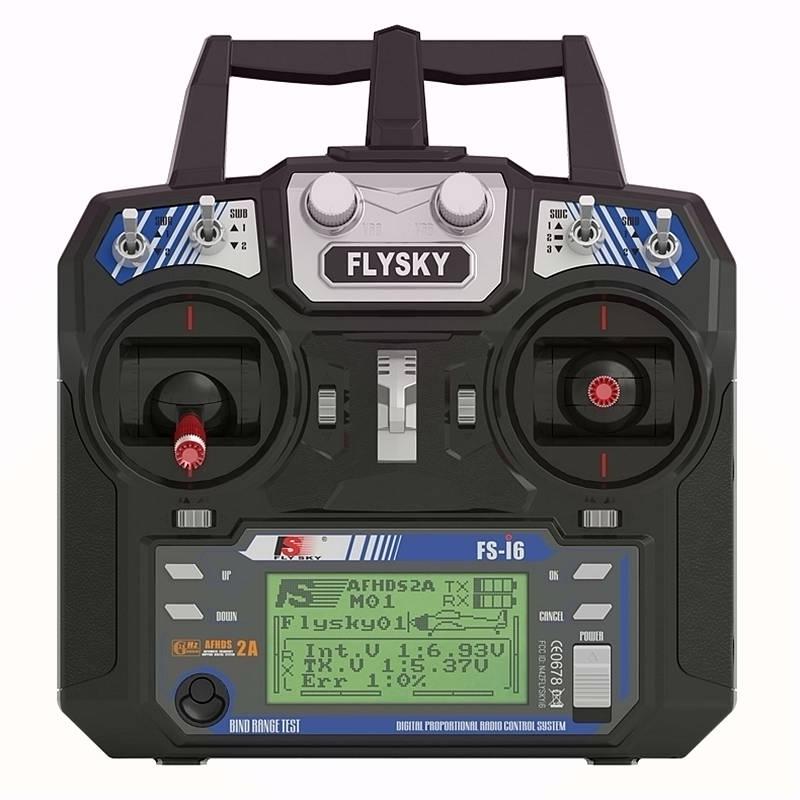 FLYSKY i6 FS-i6 transmitter with IA6 receiver 2.4G 6-channel RC radio control system 2013 wfly wft06x a 2 4ghz 6 ch radio system radio control transmitter with 2 receiver free shipping