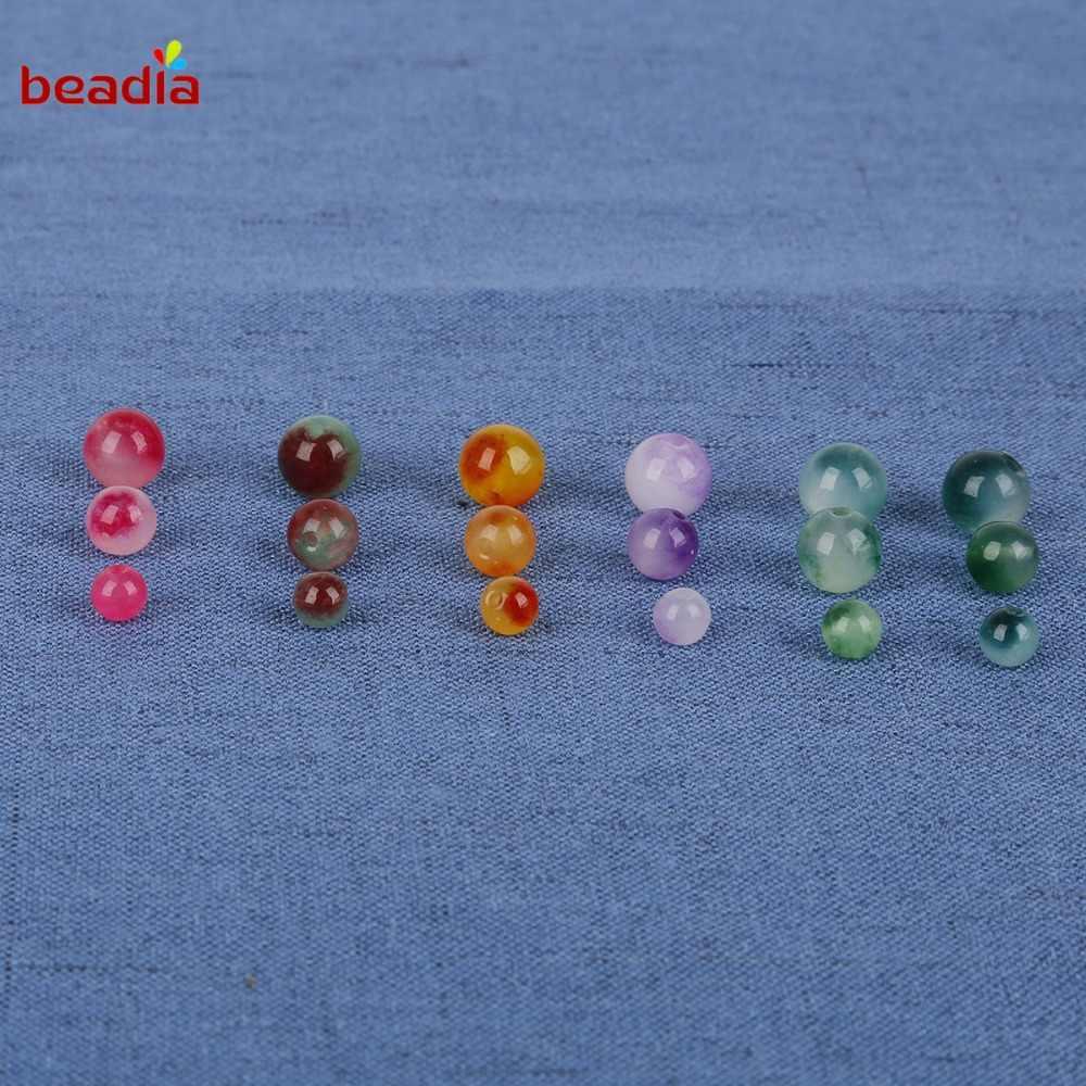 5-10 ชิ้นคุณภาพสูงหินธรรมชาติ 6/8/10 มิลลิเมตรลูกปัดแก้วคริสตัลสำหรับ DIY ผู้หญิงทำเสื้อผ้าอุปกรณ์เสริม