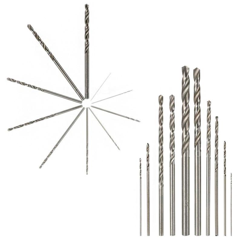 Sada 10 ks vysokorychlostních HSS vrtáků z bílé oceli pro - Vrták - Fotografie 5