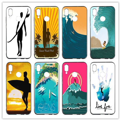 Half-wrapped Case Candid Summer Surfing Ocean Soft Tpu Mobile Phone Case Cover For Huawei P Smart Honor 4c 5c 6a 6x 7x 8x 9 Lite V8 V9 Play V10 Shell Factories And Mines Cellphones & Telecommunications