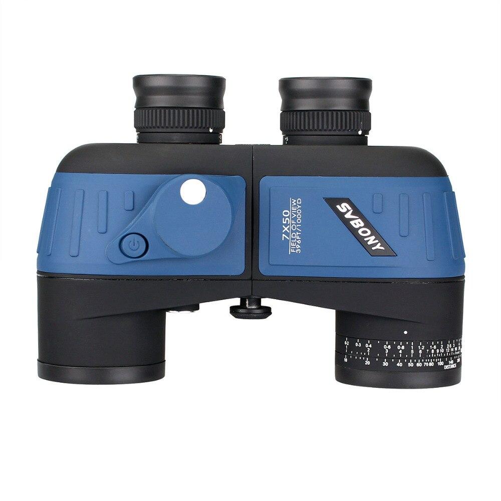 SVBONY 7x50 Binoculars Waterproof Nitrogen Floating Power Military w/Internal Rangefinder & Compass Army Green Telescope F9316 comet 10x 50mm binoculars w nylon bag army green