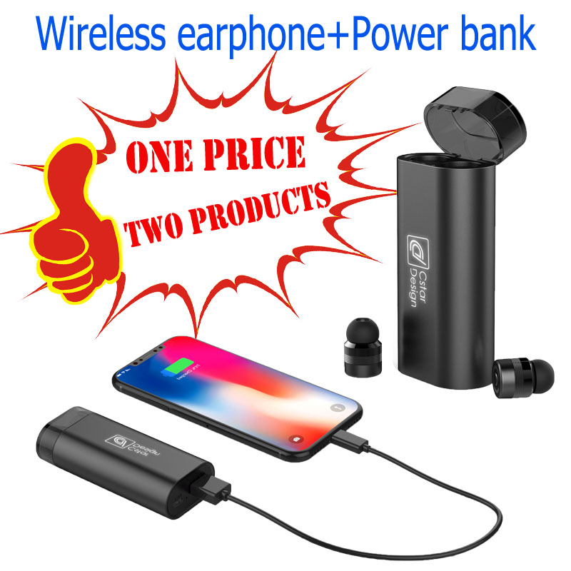 YINGTAI M3 TWS Invisible Wireless Bluetooth Earphone Mini Bluetooth Stereo Headset for phone with 2000mA Charging box Power Bank 2018 new mini invisible wireless bluetooth earphone mini bluetooth headset wireless for phone with 700 mah charging box portable