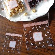 100pcs 7cm & 10cm Transparent Cherry OPP Cute small Baking Christmas Gift Packaging Bags Wedding Cookie Candy Plastic bag(China (Mainland))