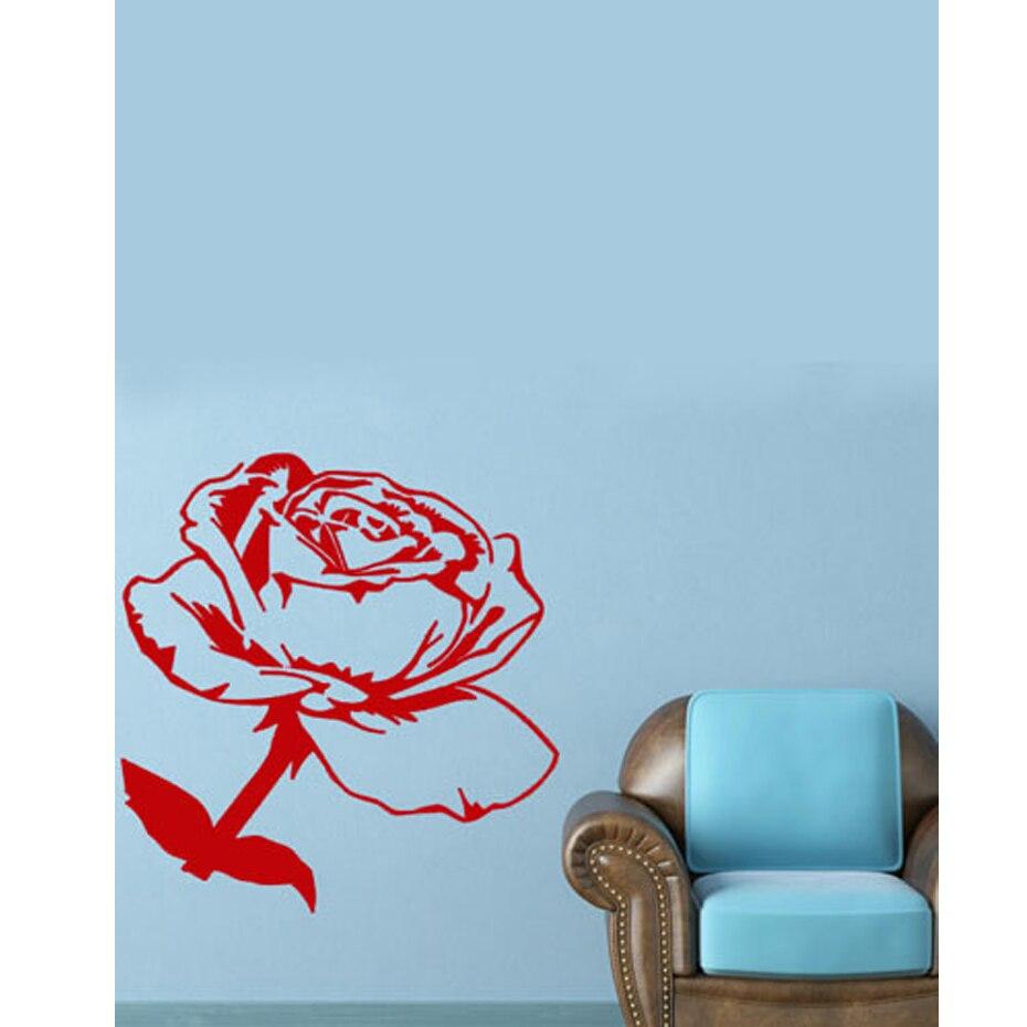 Sala de estar Grande Flor Adesivos De Parede Rosa Vermelha Para Todos Os  Amantes de Rosa Personalizado Decalques de Parede a16169786fde1
