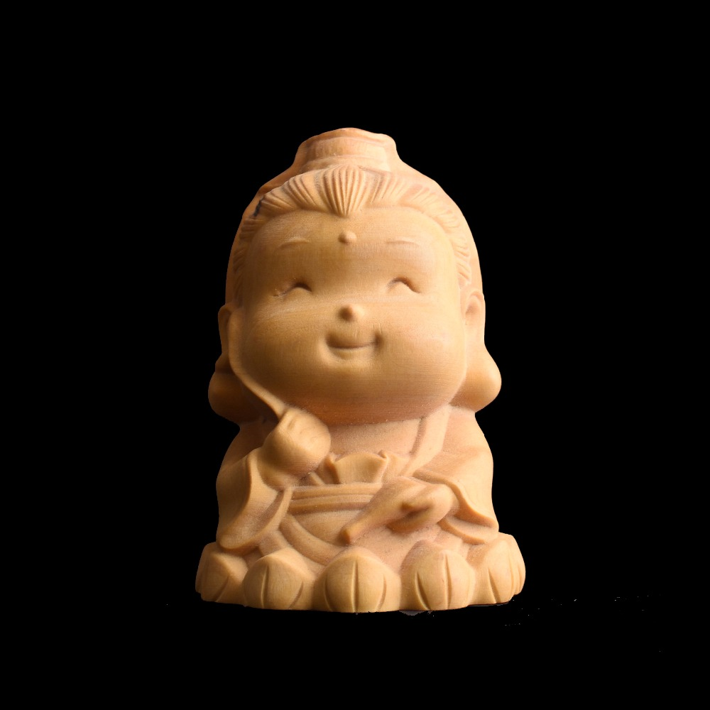 Lovely Avalokitesva  Boxwood Carving Home  Furnishing Articles  collection craft gift chinese immortals hot new the folk arts and crafts boxwood carving home furnishing articles collection craft gift