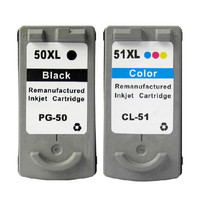 Printer Cartridges PG50 CL51 PG 50 CL 51 Replacement For Canon Pixma IP2200 MP150 MP160 MP170 MP180 MP450 MP460 Ink Cartridge