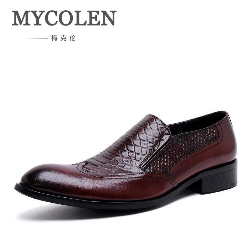 7467050f1d MYCOLEN Men Loafers Crocodile Pattern Slippers Slip On Moccasins Wedding Men's  Dress Shoes Genuine Leather Casual Black Flat - aliexpress.com - imall.com