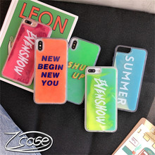 Luxury Neon Sand Liquid Case QuicksandBack Cover Luminous For iPhone XS Max XR 7 8 6 Plus Phone Capa