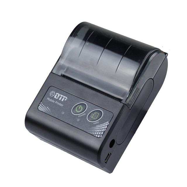 Impresora térmica inalámbrica Bluetooth portátil de 58mm con tamaño de bolsillo para soporte de restaurante Android IOS RD-M58