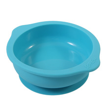 Kids Silicone Sucker Bowl Dishes Slip-Resistant Tableware