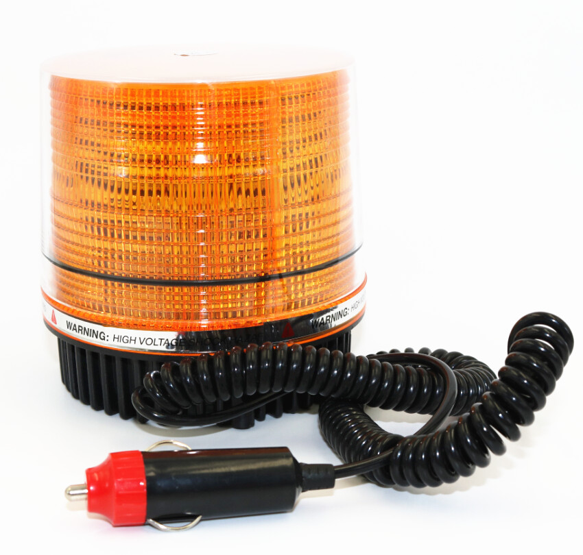 30 LED Emergency Flash Strobe And Rotating Beacon Warning Light 12W Amber