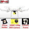 Drone con cámara de 12MP Wifi FPV Drone Profissional MJX X101 Grande Real tiempo Cámara Dron RC Quadcopter Helicóptero de Control Remoto PK X8G X8
