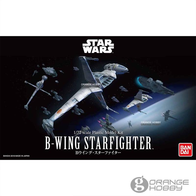 OHS Bandai 1/72 Star War B-Wing StarFighter Assembly plastic Model Kits bandai star war vm 01 vehicle model mini x wing plastic model toys figure
