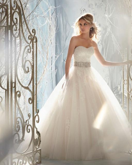 diseño clásico vestido de novia de la princesa boda corpiño