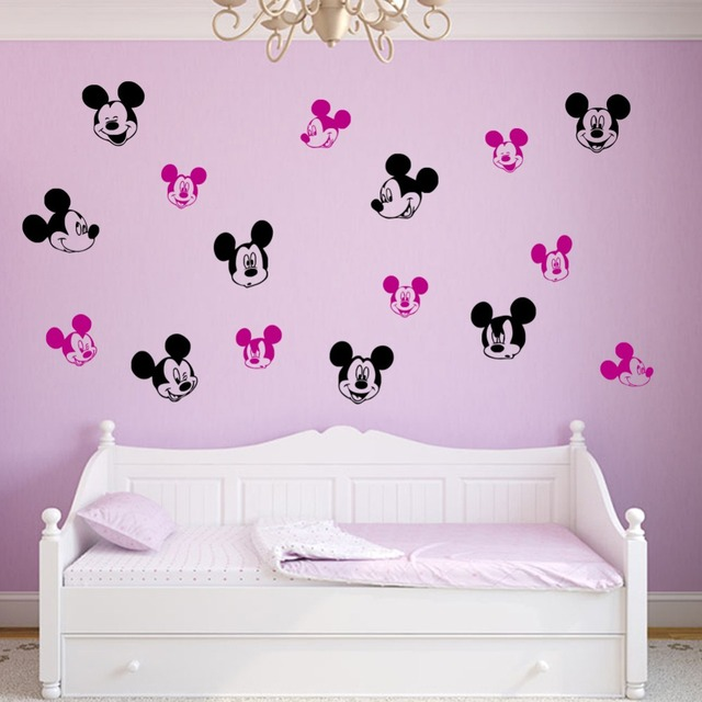 Mickey Mouse Wall Sticker Removable Cartoon Wall Stickers Home Decor