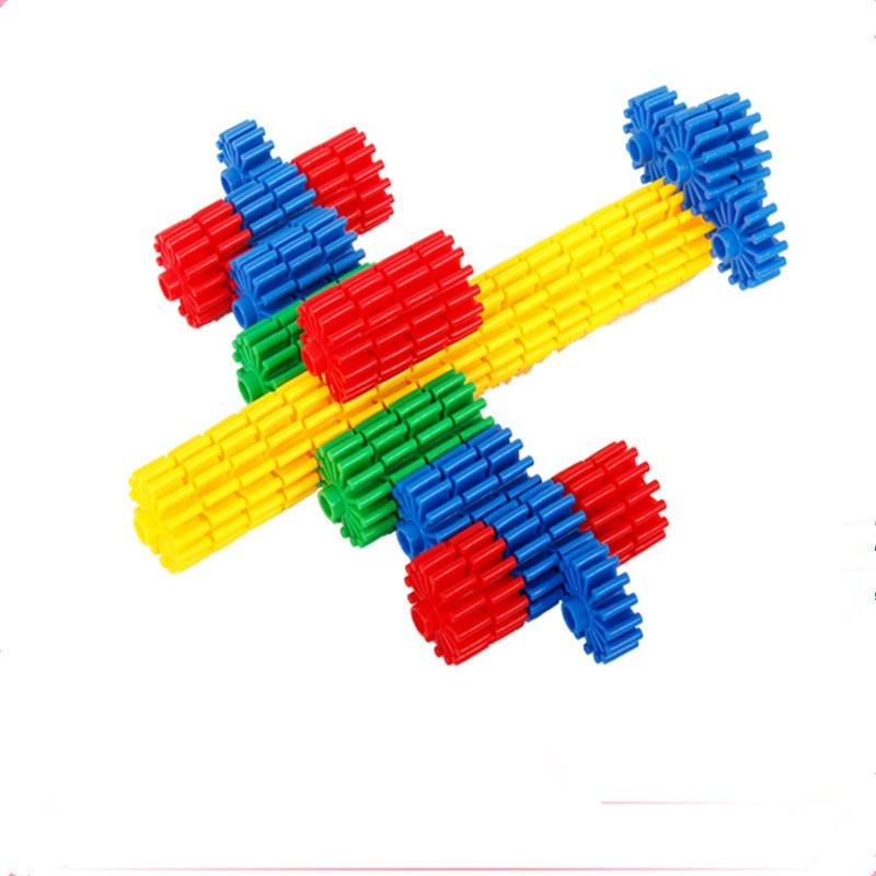 Hot Kids Plastic Gear Dreamworks Building Blocks Educational Toys for Baby Children Boys and Girls