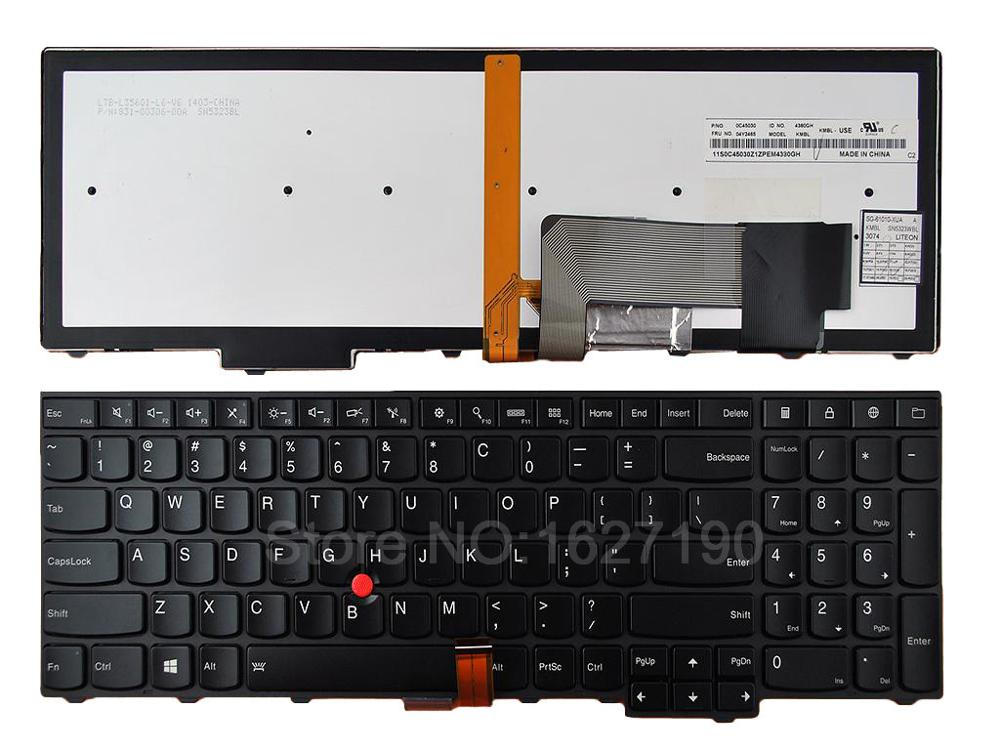 цены  New US Laptop Keyboard For ThinkPad E531 T540 BLACK Backlit,For Win8 Repair Notebook Replacement keyboards
