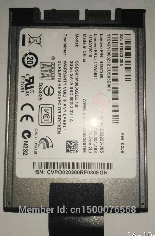 Consumer Electronics New 120gb Hdd 1.8 Microsata Mk1233gsg For 2740p 2730p 2530p 2540p X300 X301 T400s T410s Replace Mk2529gsg Mk1633gsg