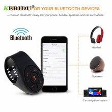 Kebidu سماعة لاسلكية تعمل بالبلوتوث ميديا البعيد زر سيارة دراجة نارية عجلة القيادة عن بعد التحكم Musicfor الروبوت iOS
