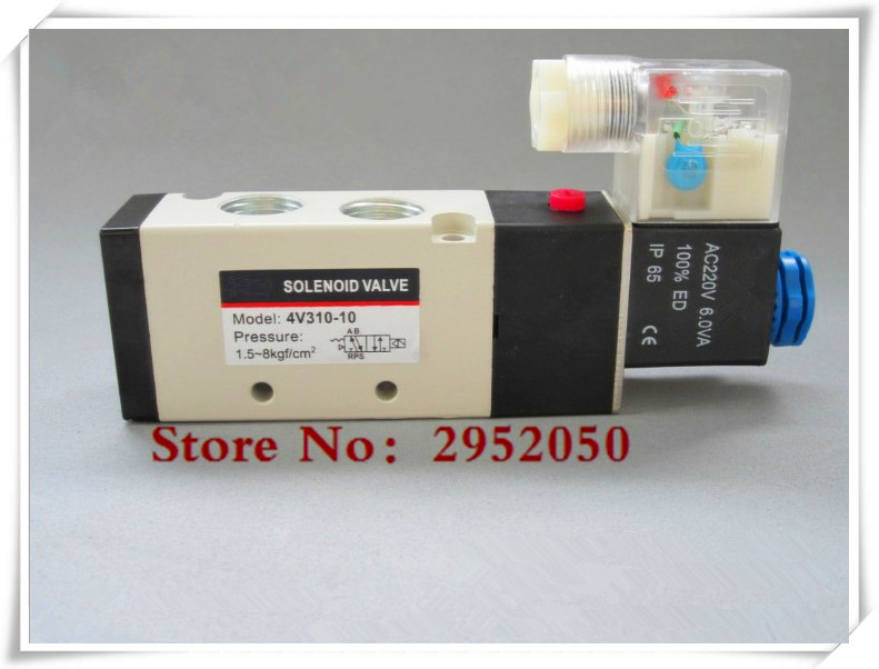 Free shipping good qualty 5 port 2 position Solenoid Valve 4V310-10,have DC24v,DC12V,AC24V,AC110V,AC220V 20pcs free shipping good quality 5 port 2 position solenoid valve 4v310 10quality have dc24v dc12v ac24v ac110v ac220v