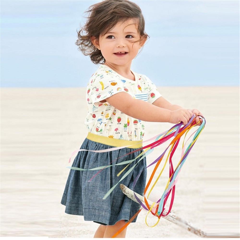 Brand Cotton Children Dress Summer Cute Cartoon Cowboy