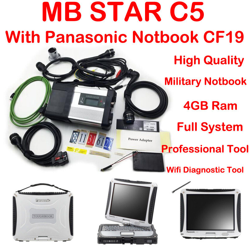 Top Qualité Nouvelle génération Mo Étoiles C5 étoiles diagnostic + Panasonic CF19 Portable MK3 2018-09 Vediamo 05.01 + DTS mb étoile diagnostic c5