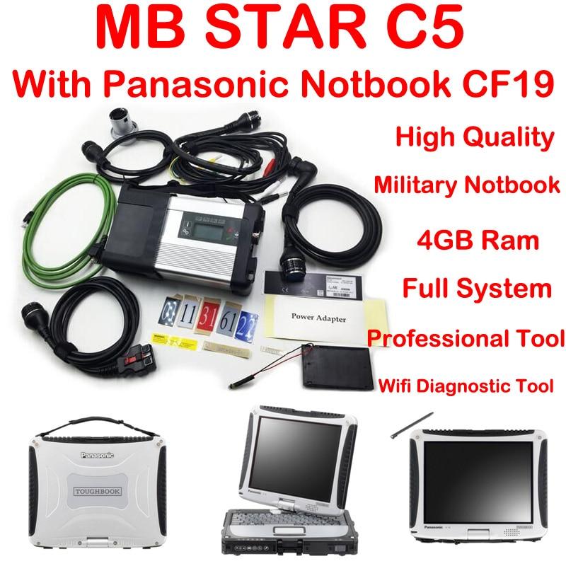 Top Qualité Nouvelle génération Mo Étoiles C5 étoiles diagnostic outil + Panasonic CF19 Portable MK3 2018-12 v Vediamo + DTS mb étoile diagnostic c5