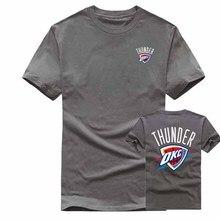 men's summer tees cotton fashion short sleeve t shirt men/women brand clothing men printing THUNDER OKC t-shirt top tees