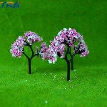 7 4cm Scale model flower tree for model train railroad scenery accessory trees model