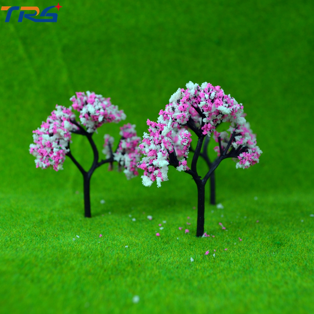 8cm Scale model flower tree for model train railroad scenery accessory trees model