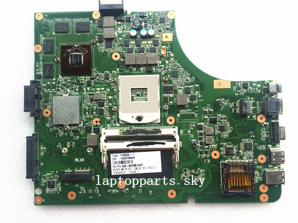 For ASUS K53SV REV:2.3 laptop motherboard DDR3 GT540M 2G 60-N3GMB1400-E01 mainboard