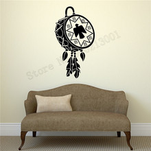 Wall Sticker Drum Talisman Bird Room Decoration Beautiful Dreamcatcher Poster Vinyl Art Removeable Mural Modern Ornament LY608 цена и фото