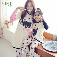 Fashion Family Matching Outfits Mother Kids Pajama Set Mother And Daughter Clothes Sets Mother Daughter Pajamas