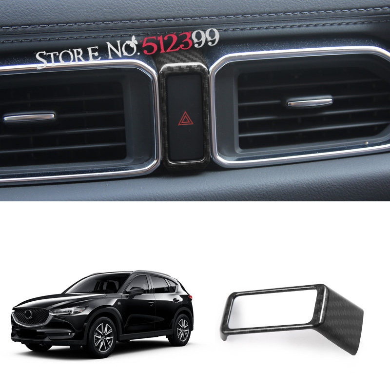 Car Interior Danger Warning Alarm Light Cover Trim For Mazda CX5 CX-5 2017 2018