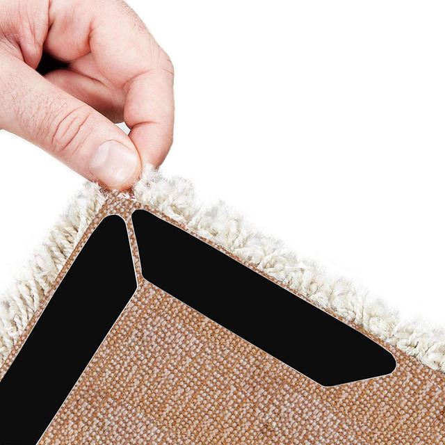 Home Floor Rug Carpet Mat Grippers Non Slip Anti Skid Reusable Washable Silicone Grip For Home Living Room Bedroom 8/16pcs