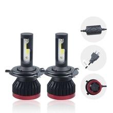 2x Car H4 H7 LED Headlight Bulbs H1 H3 H11 9005 9006 DOB 40W 4000LM 6000K 12V Auto Headlamp Fog Lights styling