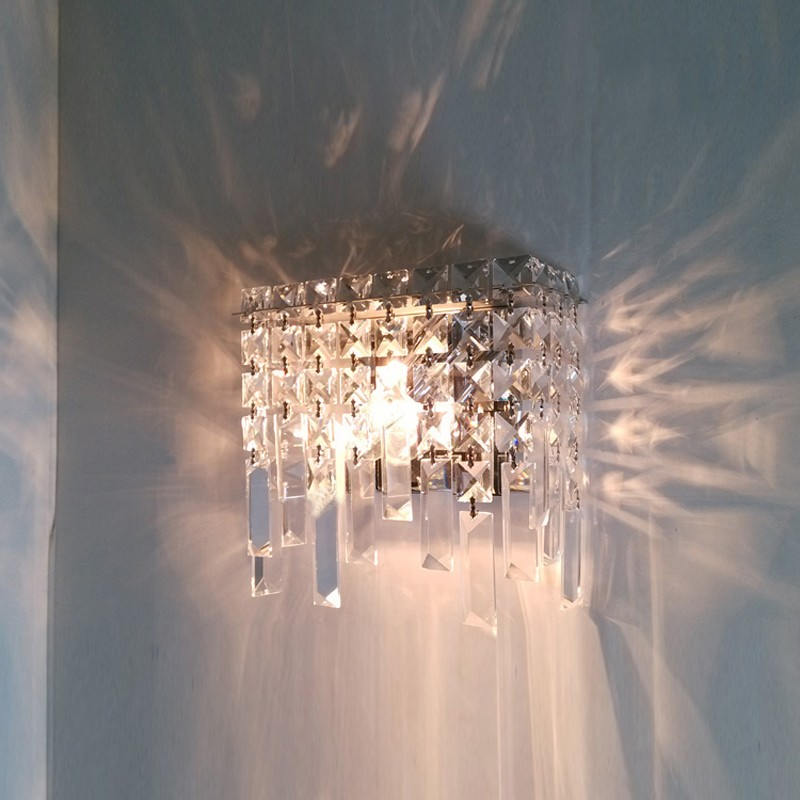 Modern Crystal Wall Lamp Sconce Light dressing table Mirror sconces Modern wall mounted bedside reading lamps crystal black wall lights bedside lamp high quality sconces lamp indoor lighting wall lamps industrial sconce modern de la pared lampada