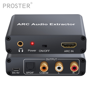 PROZOR Converter HDMI Audio Adapter DAC ARC L/R Coaxial SPDIF Jack Extractor Return Channel 3.5mm Headphone for TV