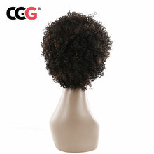 CGG Short Human Hair Wigs Kinky Curly For Africa America Women Wigs Daily Full Non-Remy Malaysian Wigs Machine Made 10 Inch(China)
