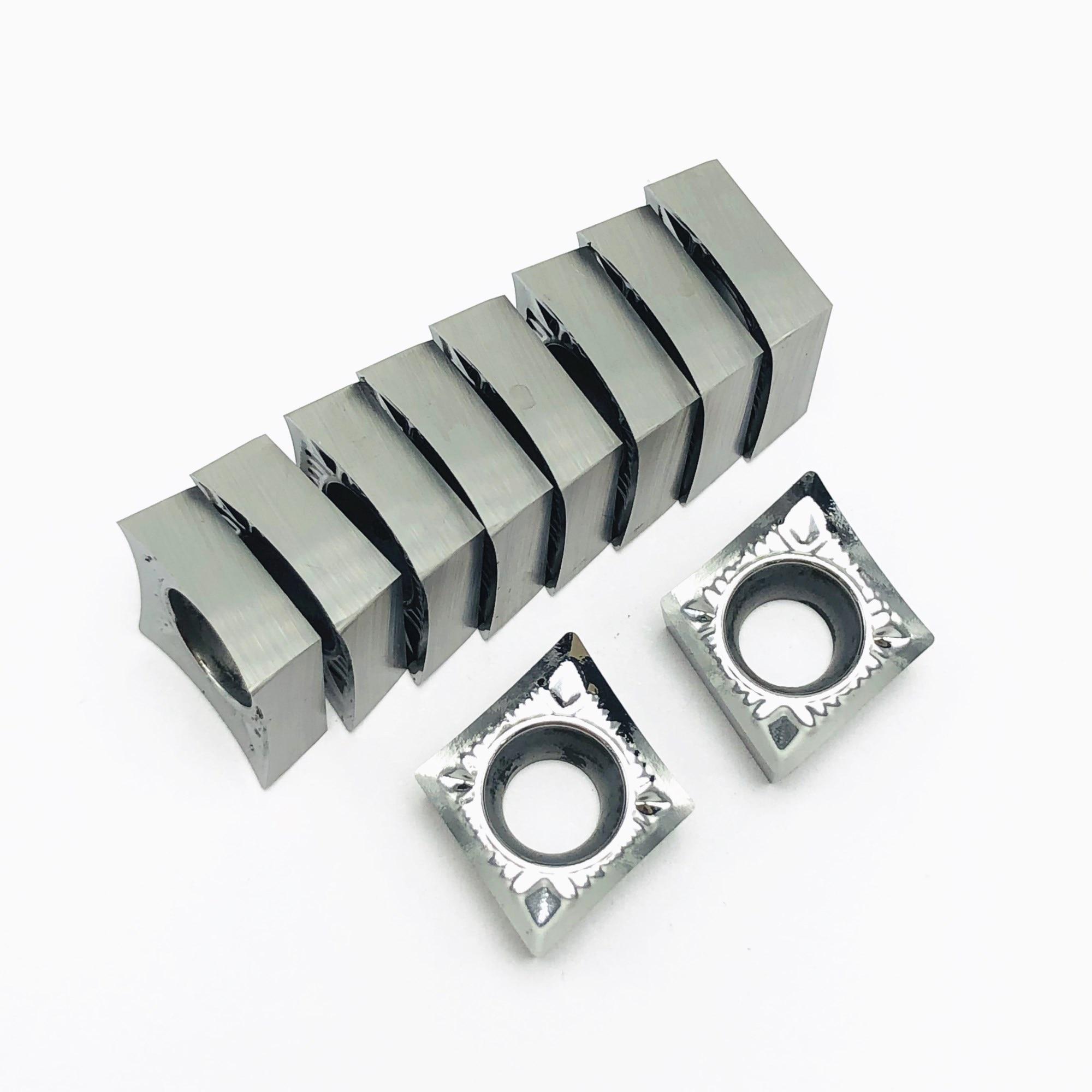 Carboneto De Inserção de alumínio CCGT060202/04/08 AK H01, Ferramenta de Torno CNC, Apropriado para o Processamento de Alumínio, CCGT060202 Inserir SCLCR/SCKCR
