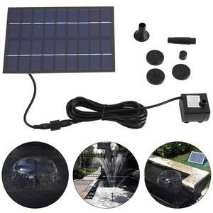 Image 1 - Pompe à eau, 200l/h, avec panneau solaire, pompe à eau, étang, jardin, maison, pompe à panneau solaire noire