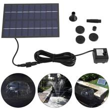 Solar Panel Powered Water Fountain Pump Fish Tank Pond Pool Home Garden Watering Kit Black Solar Panel Water Pump 200L/h
