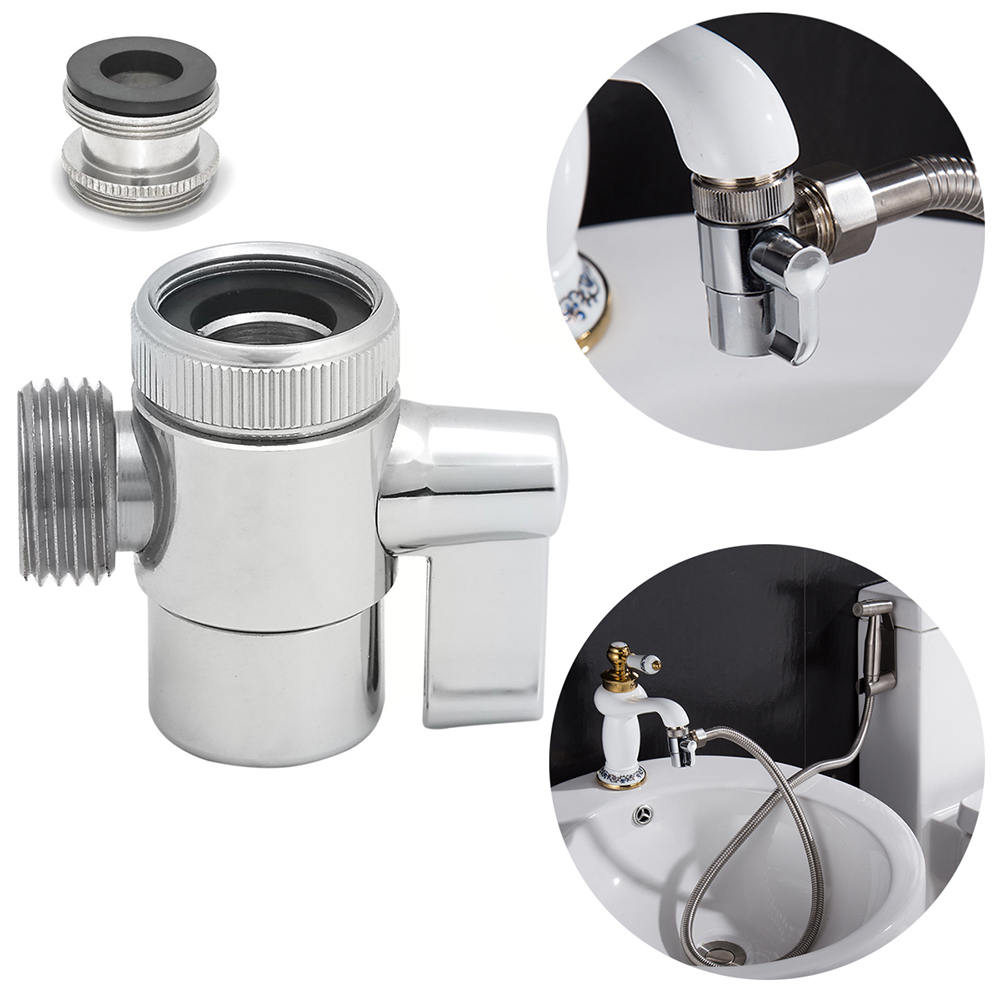 Free shipping brass 3-way diverter valve for kitchen bidet or bathroom basin faucet replacement part shattaf accessories t valve