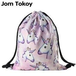 2017 new fashion women unicorn backpack 3d printing travel softback women mochila drawstring bag school girls.jpg 250x250
