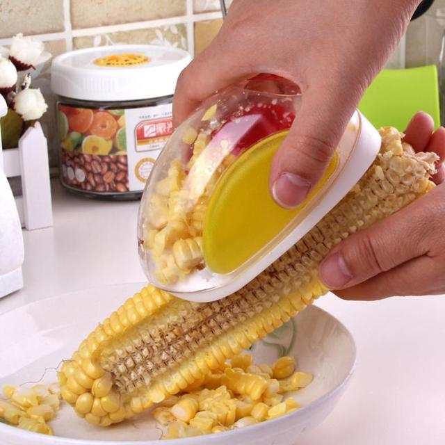NEW Newest Convenient Corn Stripper Creative Household Kitchen Necessities  Planing Corn Maize Peeling Knife Stripping Device