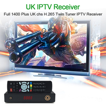 HAOSIHD hevc 2.65 satellite receiver UK IPTV twin lnb tuner with one year subscription faster watch full UK live tv VOD movie