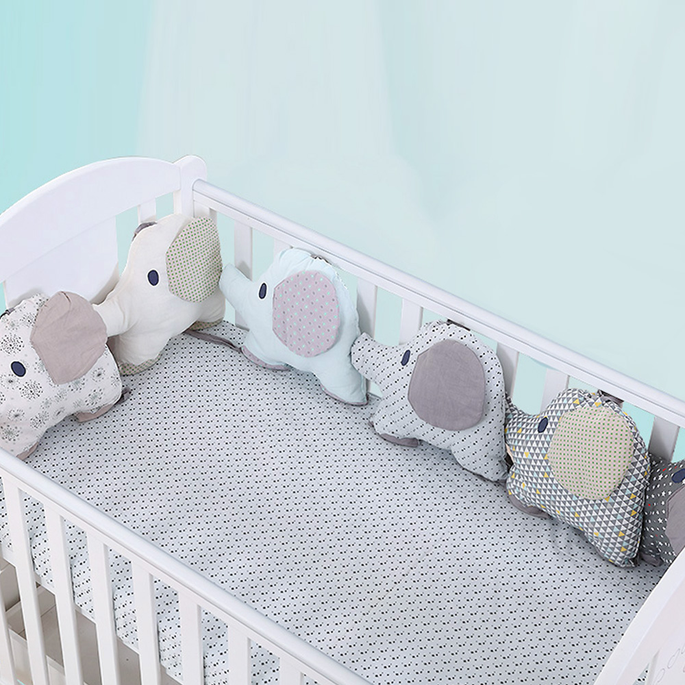 e708337e468d4 Lit bébé pare-chocs nouveau-né Flexible Combiner dossier Animal éléphant  berceau Protection lit bébé literie accessoires pour chambre de bébé