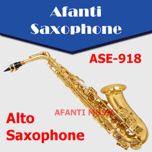 Afanti Music Eb tone / Brass body / Gold finish Alto Saxophone (ASE-918)