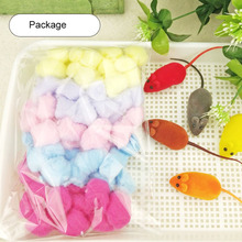 Colorful Small Animals Toys for Hamster Rat Mouse Winter Keep Warm Cotton Ball Cute Cage House Filler Supply 100Pcs/Bag